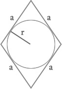 The area of a rhombus
